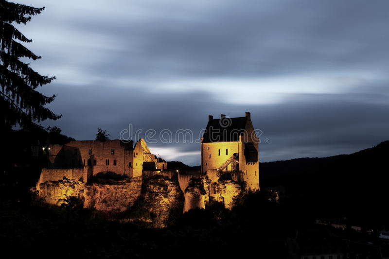 Medevial Castle in Larochette, Luxembourg. royalty free stock images