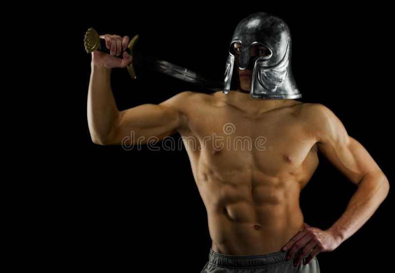 Medevil warrior stock photo