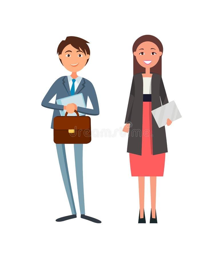 Medewerkers in Formele Slijtage, Dame Manager, Envelop vector illustratie
