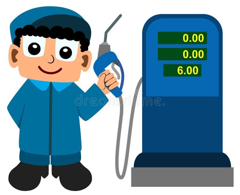 medfölja bensinstation royaltyfri illustrationer