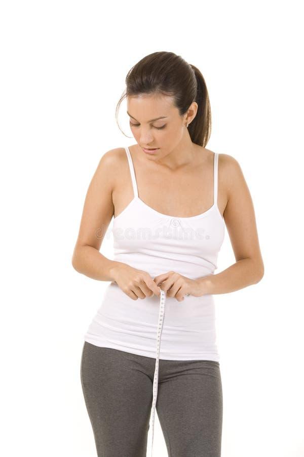 Download Medição imagem de stock. Imagem de dieting, caucasiano - 10056989