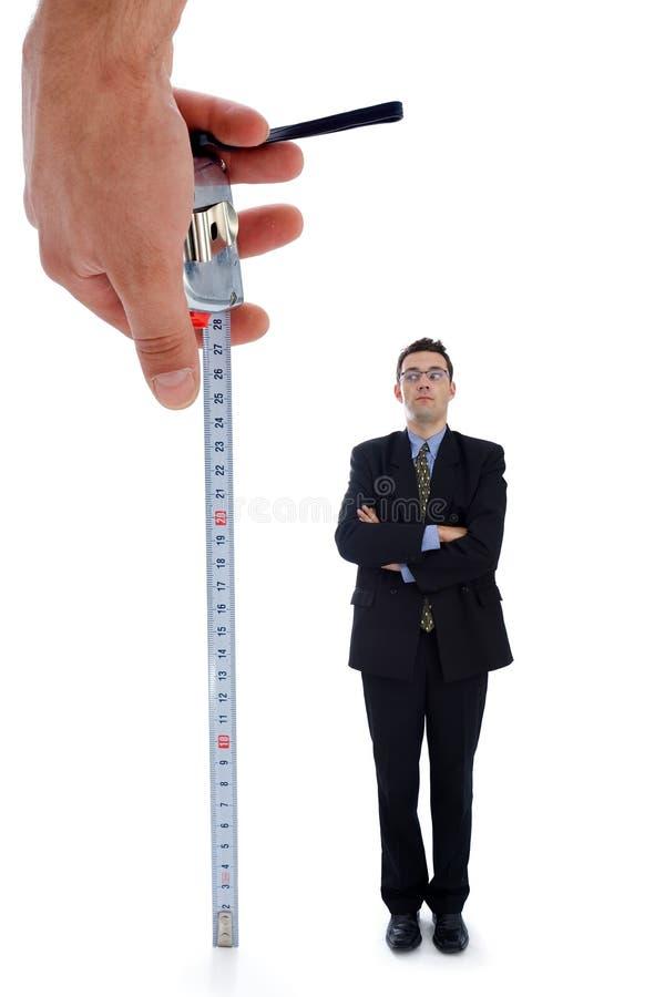 Medição homens fotografia de stock royalty free
