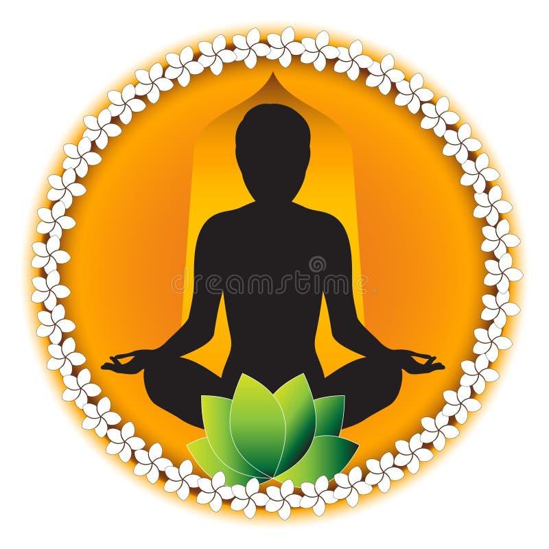 Mediação da ioga ilustração stock