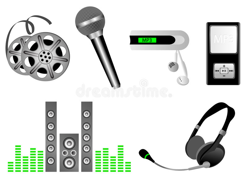 Download Media stock vector. Illustration of electronic, roll, stereo - 6304933
