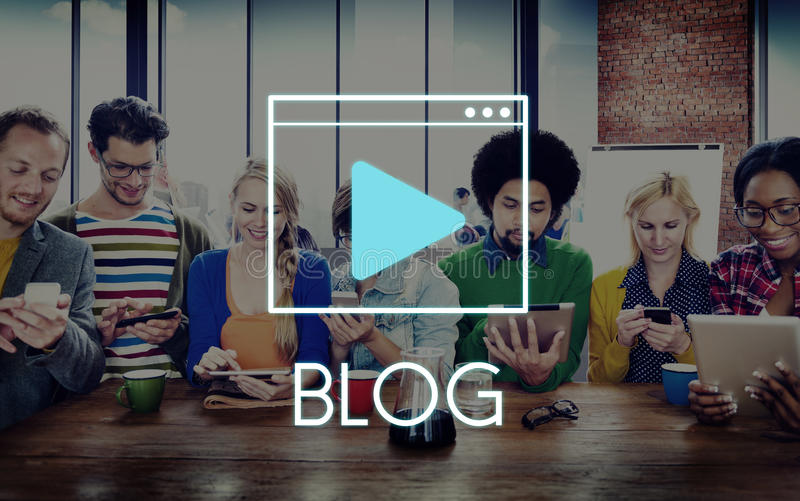 Media Audio Player Blog Concept royalty free stock photography
