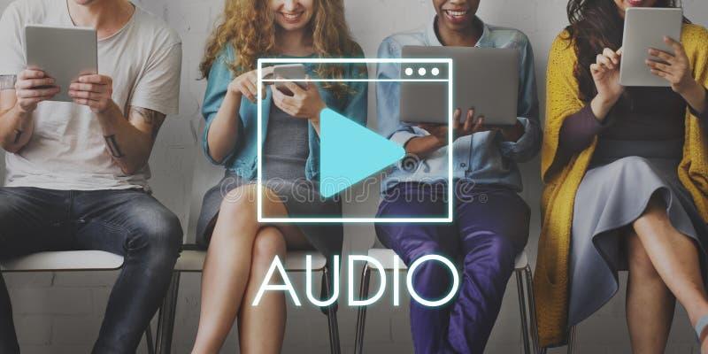 Media Audio Player Blog Concept stock image