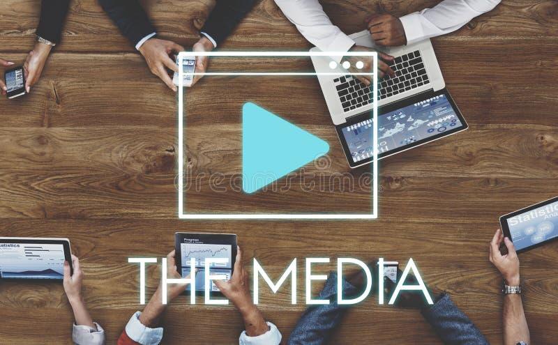 Media Audio Player Blog Concept stock photo