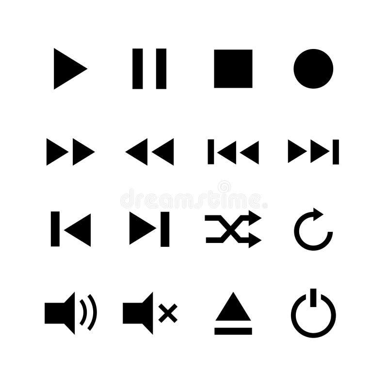 Media Button Symbol Stock Illustration Illustration Of Fast 107709342