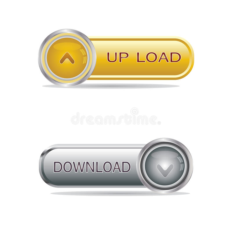 Media buttons stock illustration