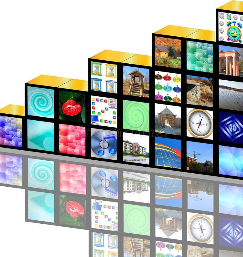 Media cúbicos imagen de archivo libre de regalías