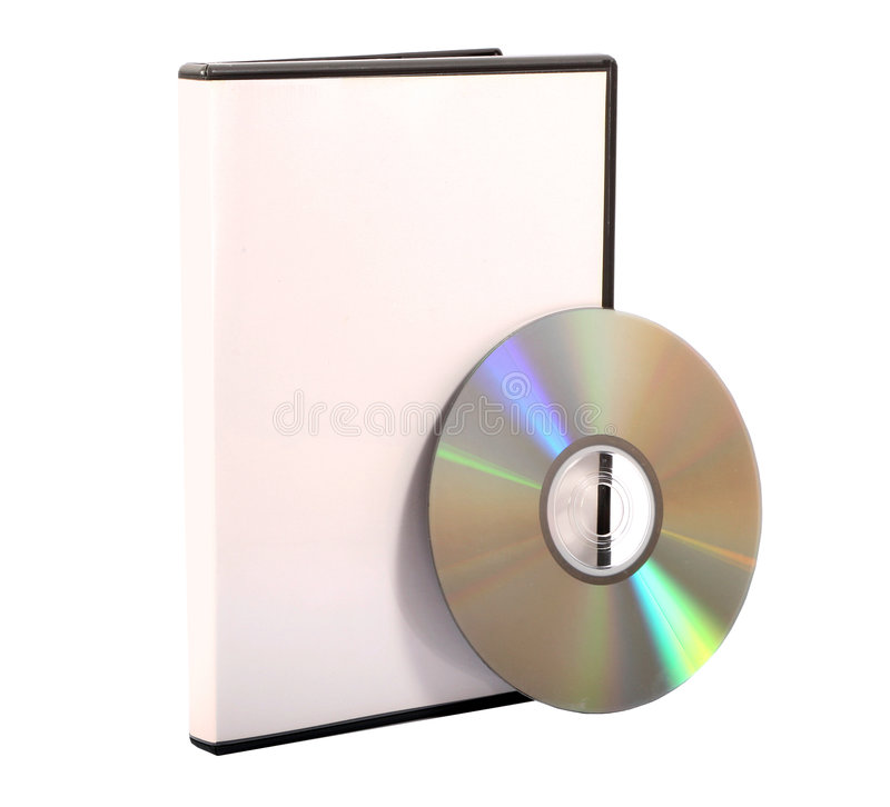 Media case and compact disc. An isolated compact disc Case royalty free stock photos