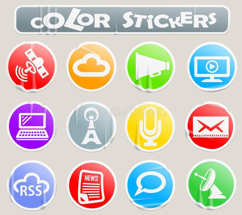Media color stickers vector illustration
