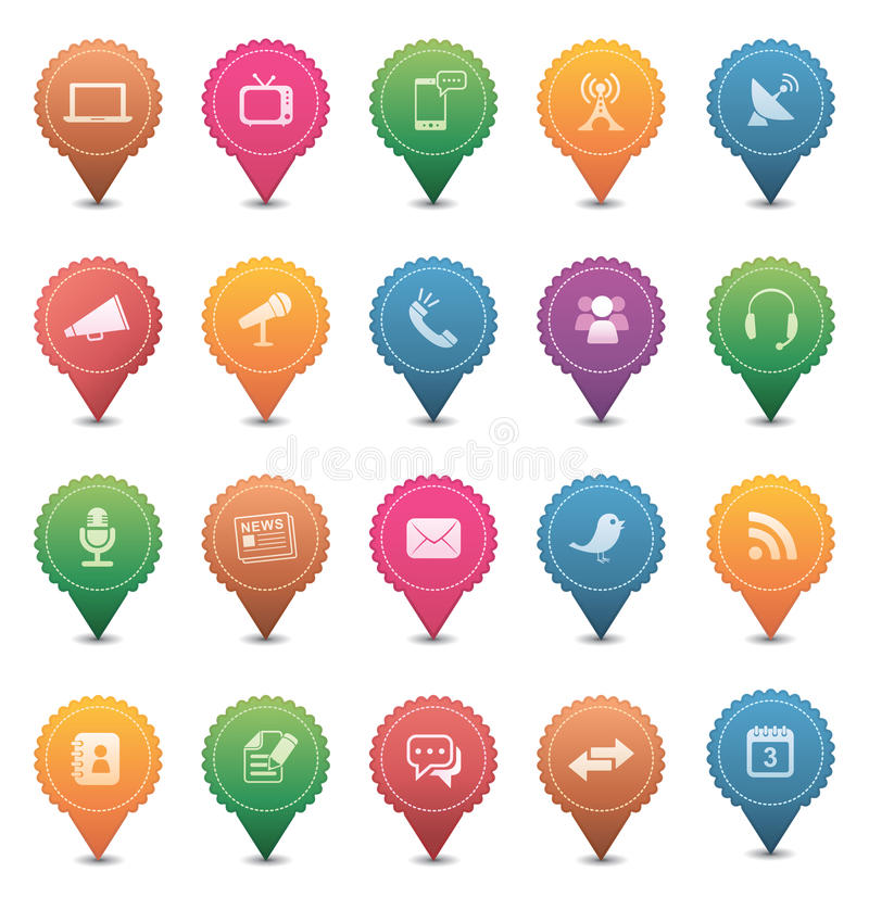 Download Media & Communication Icons Stock Images - Image: 25472354
