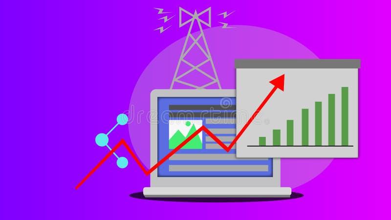 Media Communication social illustration stock