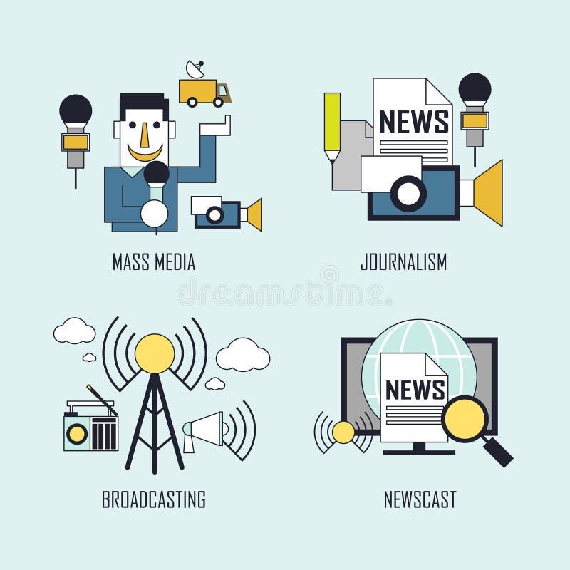 Media concept vector illustration