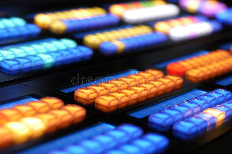 Media Console Keys 2 royalty free stock images
