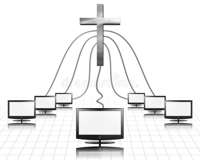 Media cristiani illustrazione vettoriale