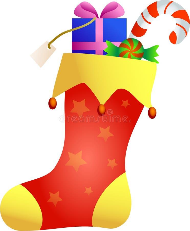 Media de la Navidad stock de ilustración