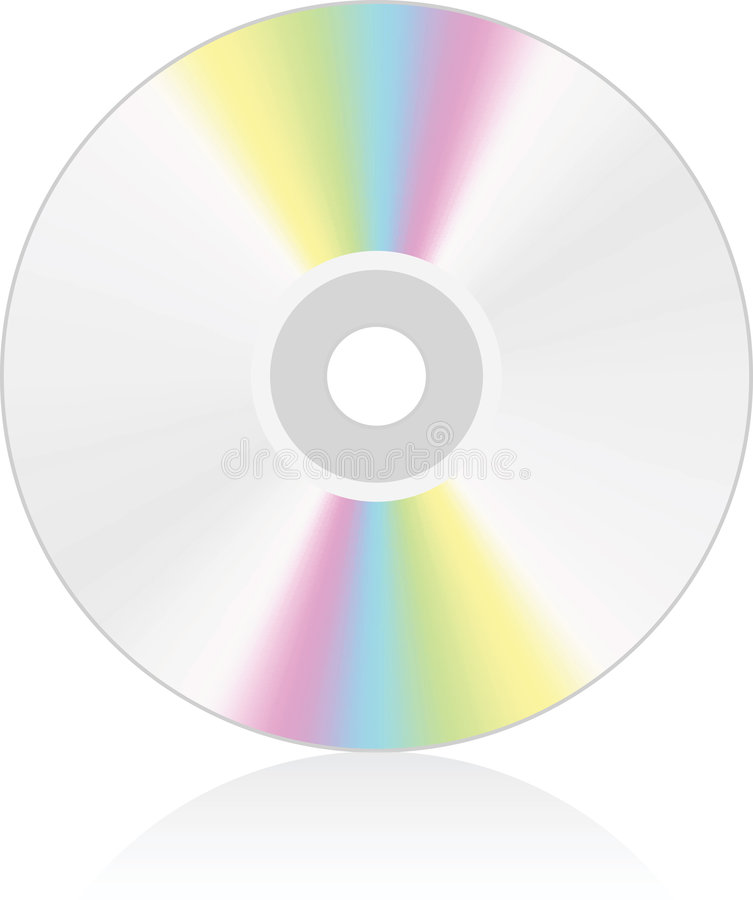 Media del CD/DVD royalty illustrazione gratis