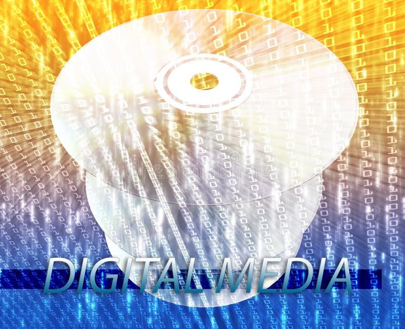 Media digitali di film illustrazione di stock