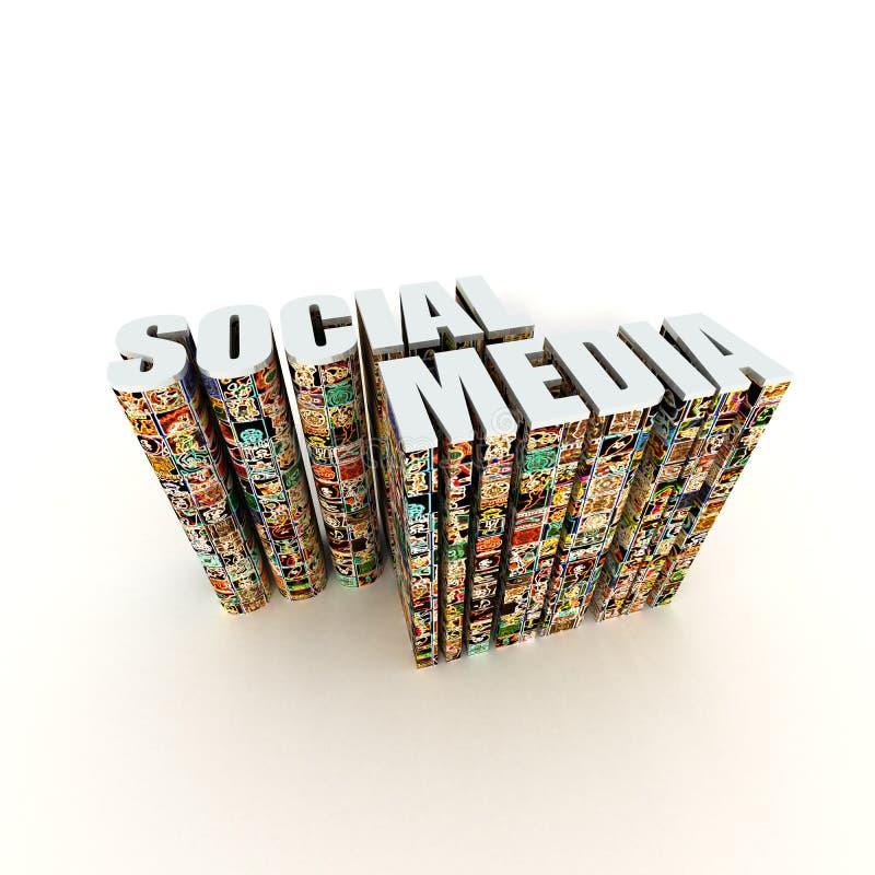 Media do Social do ícone do App foto de stock