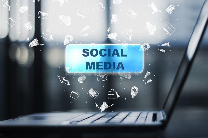 Media e conceito sociais de uma comunicação ilustração stock
