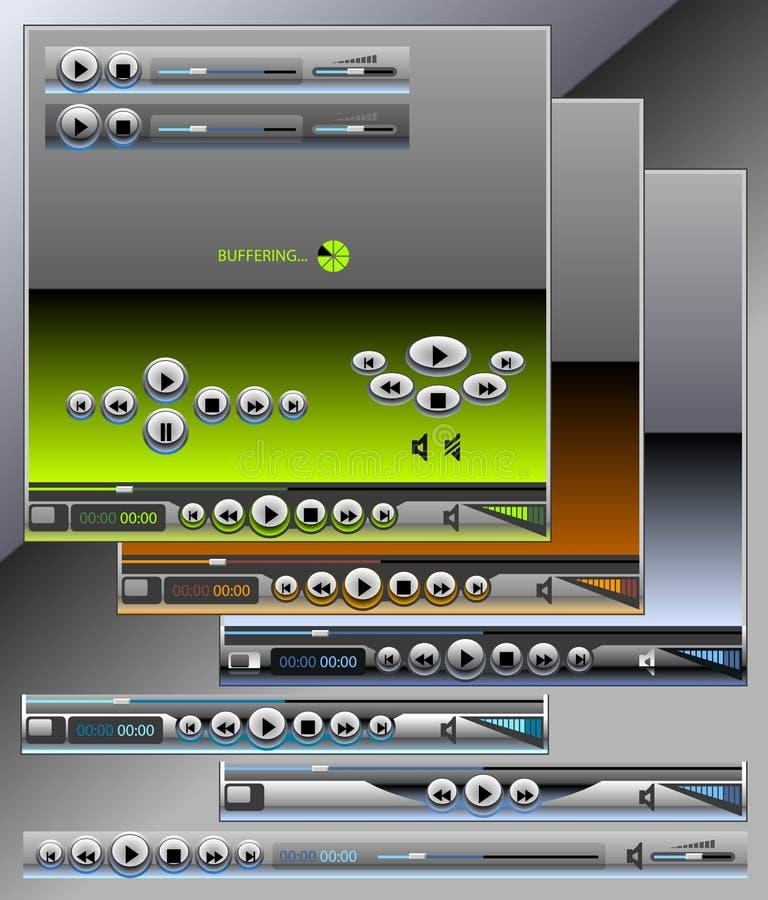 Media en audiospelers royalty-vrije illustratie
