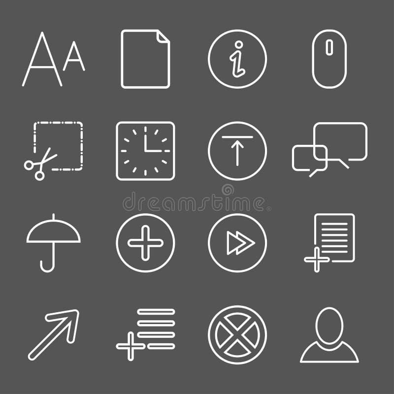 Media en communicatie pictogrammen stock illustratie