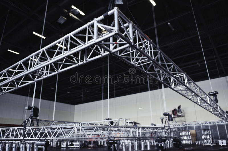 Rigging Truss. Media Event built up - Rigging Truss royalty free stock images