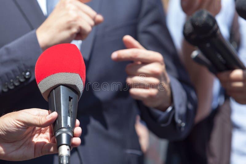 Media gesprek royalty-vrije stock foto