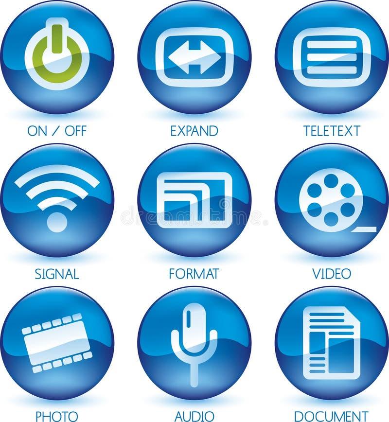 Media icon set (2of4) (vector) royalty free illustration