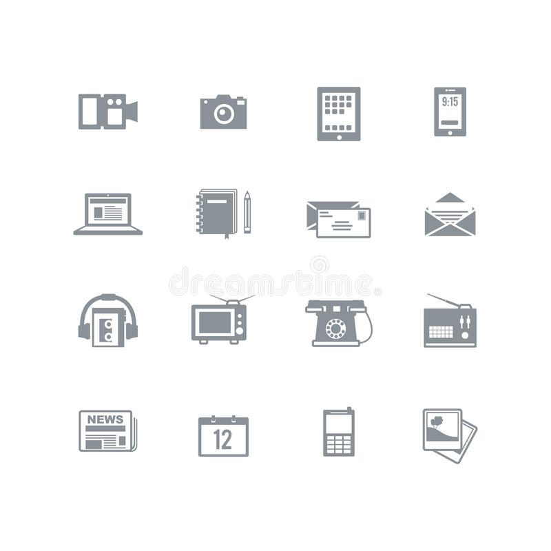 Media icon set vector illustration