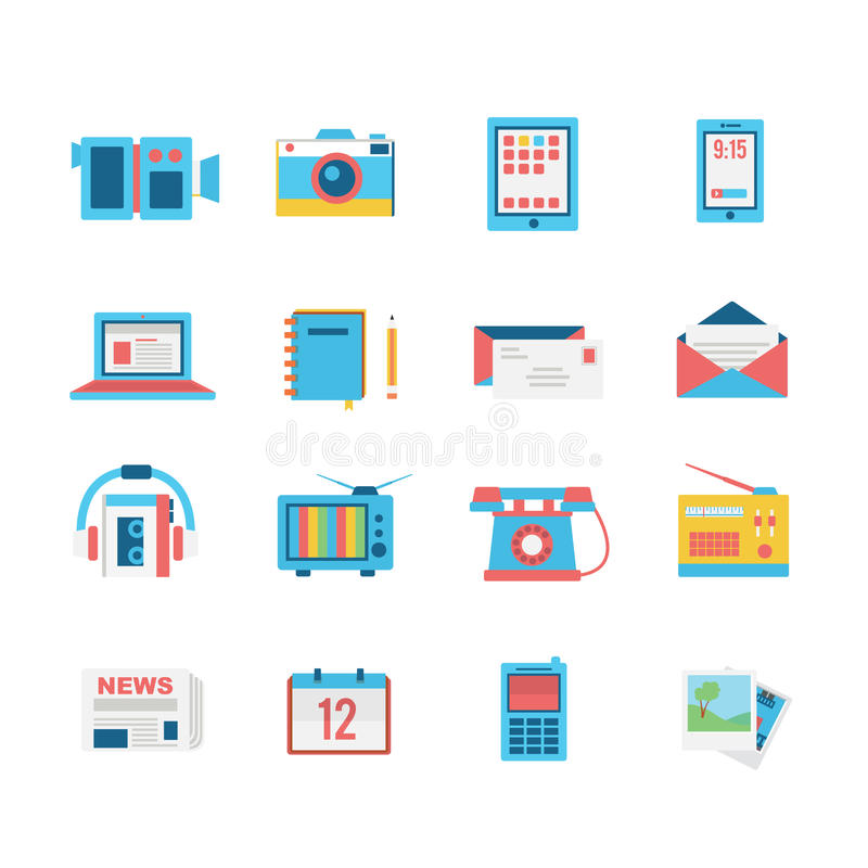 Media icon set royalty free illustration