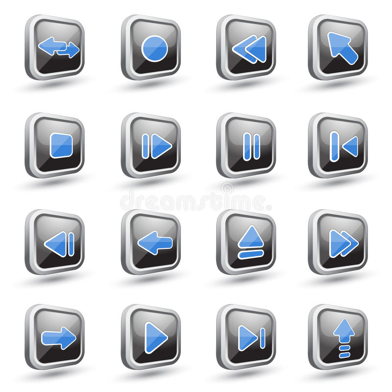 Download Media icons stock vector. Illustration of element, icon - 23605861