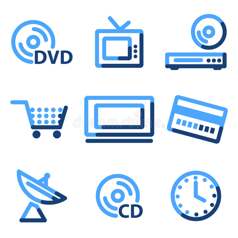 Download Media icons stock vector. Image of outline, credit, iconset - 6286868