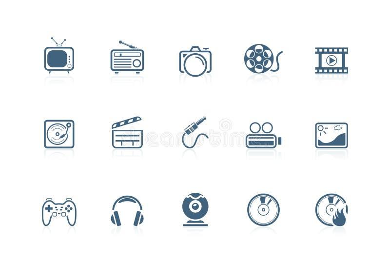 Media Icons   Piccolo Series Stock Image