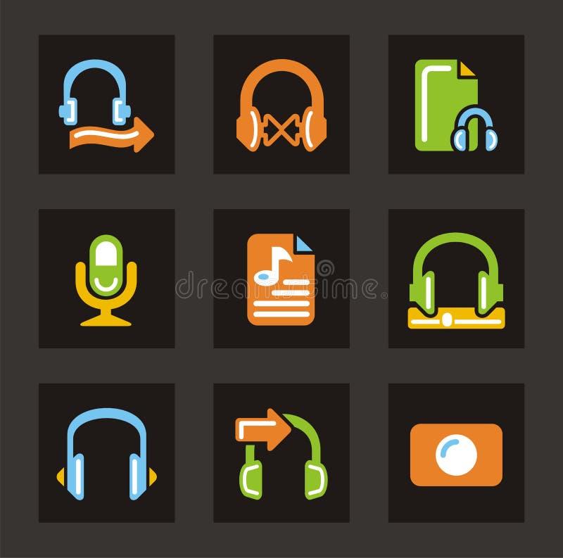 Media-Ikonen - Audio lizenzfreie abbildung