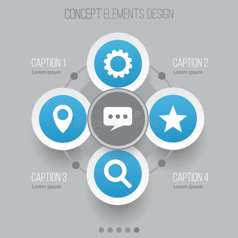 Media-Ikonen eingestellt Sammlung Stern, Mitteilung, Gang und andere Elemente Schließt auch Symbole wie Punkt, Pin, Suchvorgang e lizenzfreie abbildung