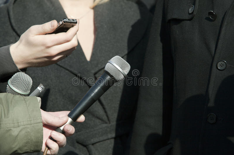 Download Media interview stock image. Image of report, communication - 28225447
