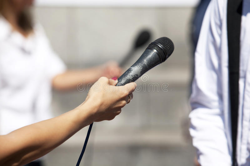 Download Media interview stock photo. Image of microphone, sound - 32026144