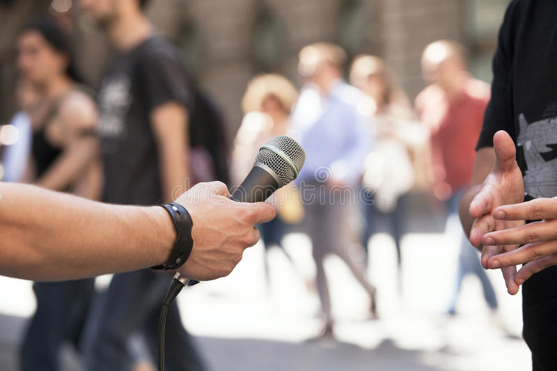 Download Media Interview Stock Photo - Image: 31075870