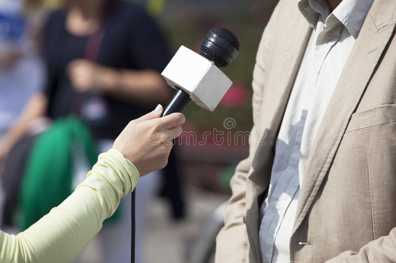 Download Media interview stock photo. Image of discussion, hand - 34959212
