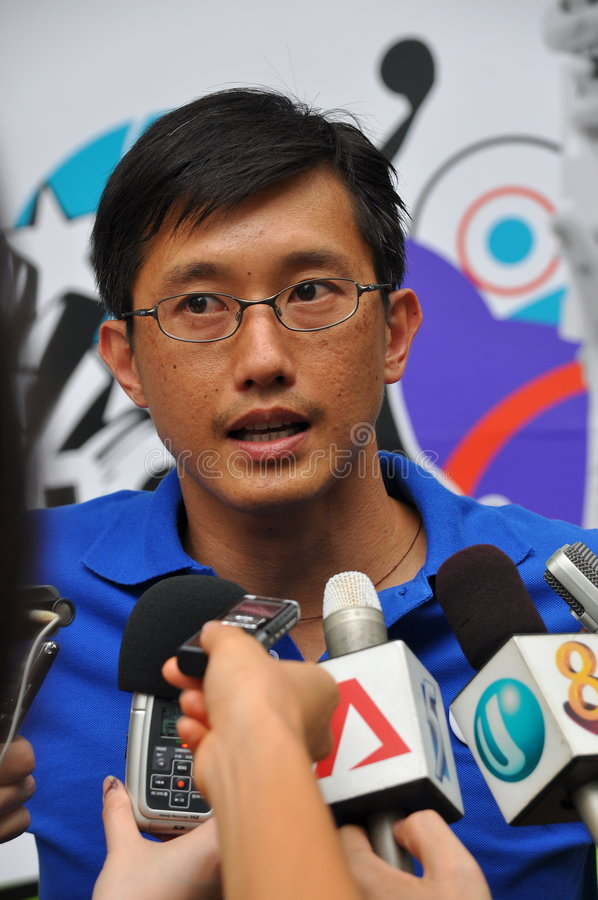 Download Media Interview During Youth Olympics Logo Launch Editorial Image - Image: 7729780