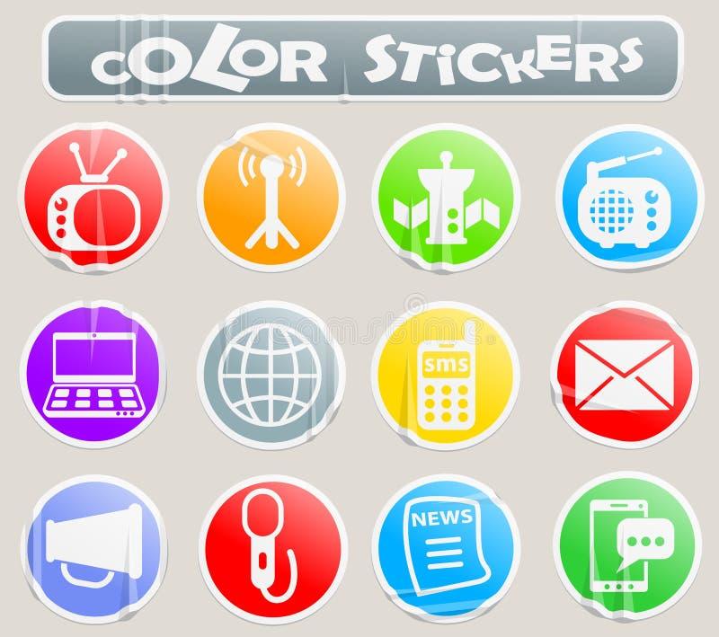 Media kleurenstickers vector illustratie