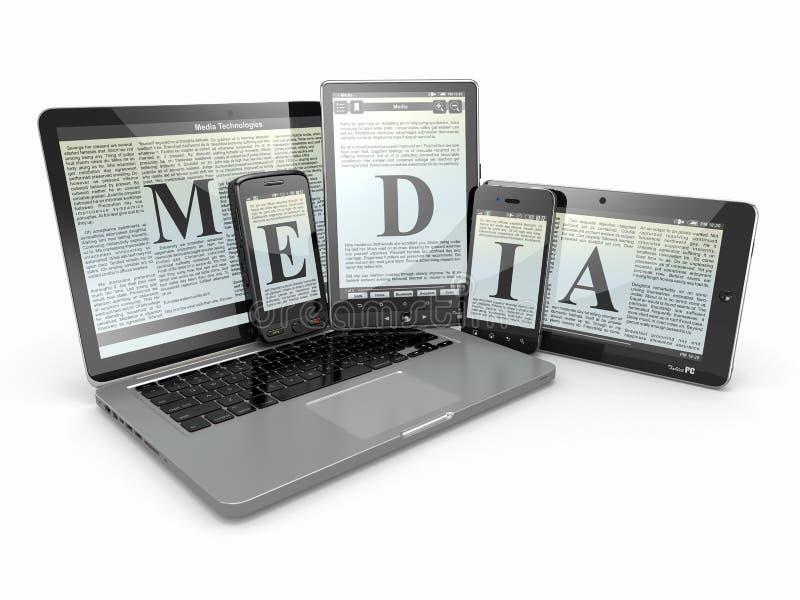 Download Media. Laptop-, Telefon- Und Tablette-PC. Stock Abbildung - Illustration von auslegung, bildschirmanzeige: 27726454