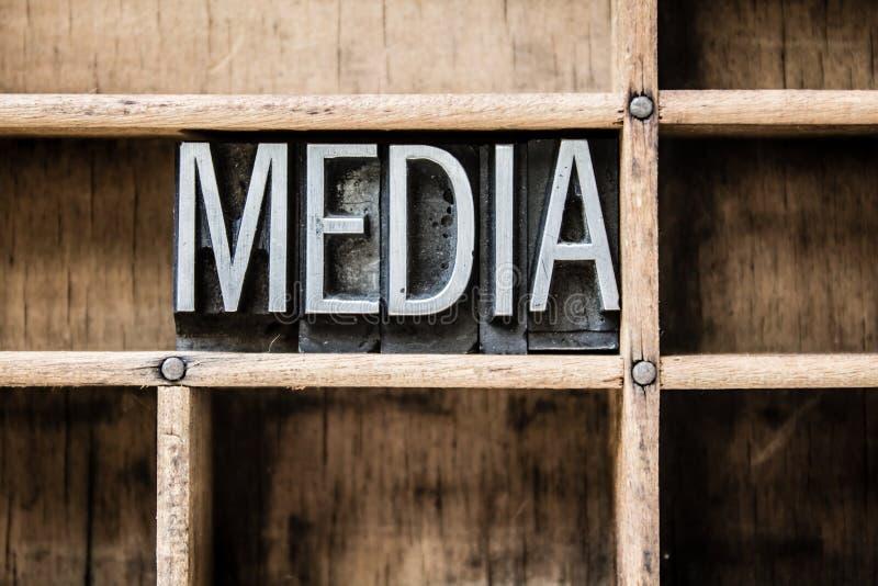 Media Letterzetseltype in Lade royalty-vrije stock foto's