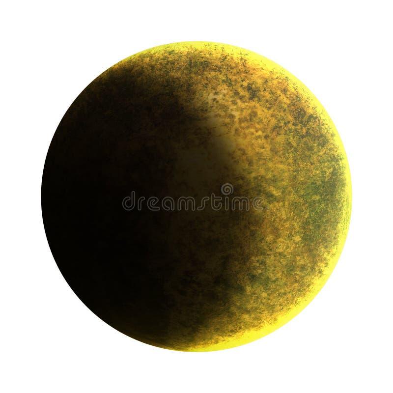 Media luna aislada sobre el fondo blanco La luna es un cuerpo astronómico que está en órbita la tierra del planeta, siendo nacion stock de ilustración