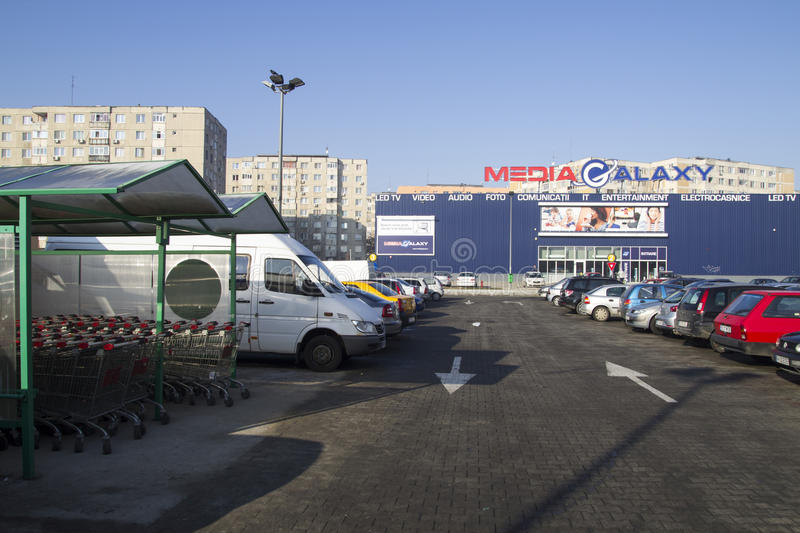 Download Media market and a parking editorial image. Image of shopping - 28743425