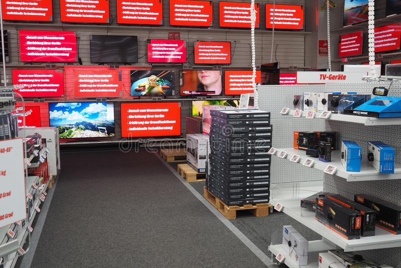 Media Markt in Offenburg, Baden-Württemberg, Germania fotografie stock