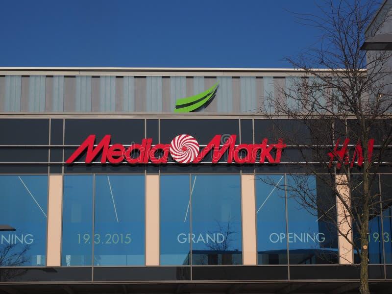 Media Markt sign stock photography